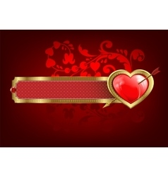Design with a rectangular frame and heart vector image