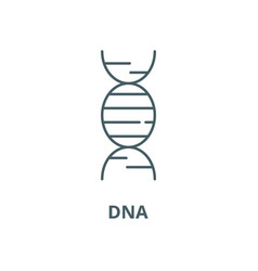 dna line icon linear concept outline sign vector image