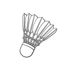 Doodle shuttlecock for badminton from bird vector