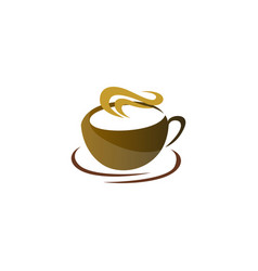 drink coffee logo icon design vector image