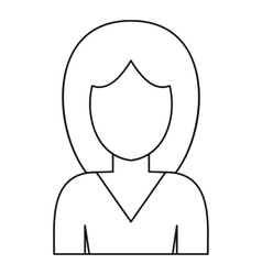 Female avatar icon outline style vector