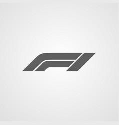 Formula 1 or f1 logo icon symbol isolated vector