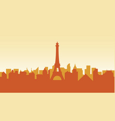 France silhouette architecture buildings town city vector