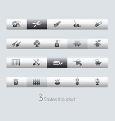 Gardening - toolbars vector