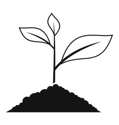 Growing plant icon simple style vector