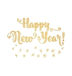 Happy New Year Embroidery Style vector image
