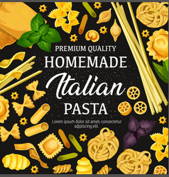 Homemade pasta cooking and italian cuisine vector