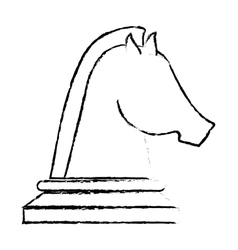 Horse chess icon vector