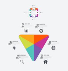 Infographics 6 options vector