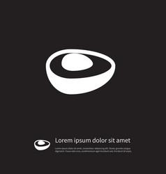 Isolated evergreen icon shrub element ca vector
