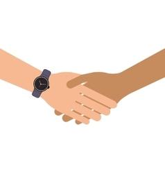 Isolated handshake icon vector