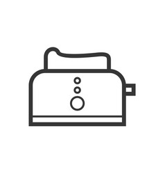 Kitchen toaster outline single isolated vector