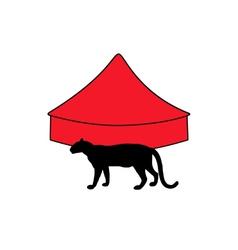 Leopard in circus vector