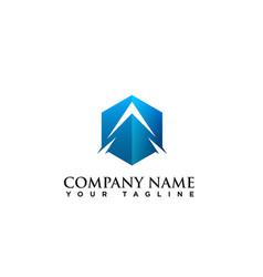 letter a logo corporate a logo icon vector image