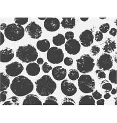 Many round black spots background art vector image