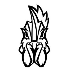 Mascot stylized rooster head vector