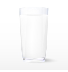 Milk Insulated glass of milk vector