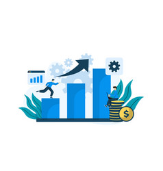 modern flat design data analytics can be used vector image