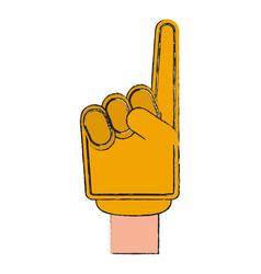 number one finger foam vector image
