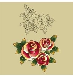 old school tattoo symbols vector image