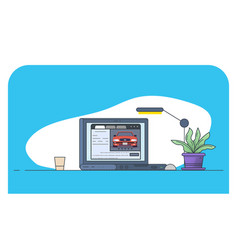 online car website vector image