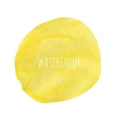 Pastel Watercolor Blob vector image
