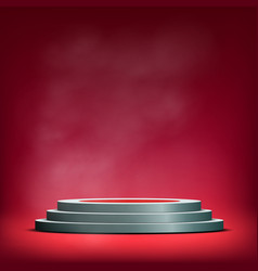 Pedestal for winners sale and advertising vector
