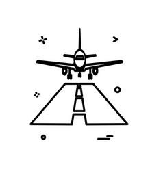 plane icon design vector image