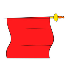 Red cape of bullfighter icon cartoon vector