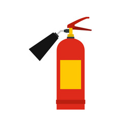 red fire extinguisher icon flat style vector image