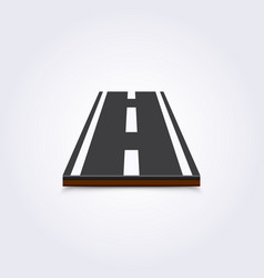road icon 3d on a white background vector image