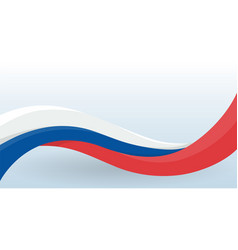 russia waving national flag modern unusual shape vector image