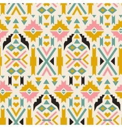 Seamless colorful aztec pattern White background vector