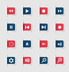 Set a collection unique paper stickers icon vector