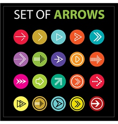 Set of arrows text color vector image