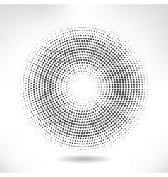 silver circle halftone vector image