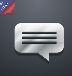Speech bubble Chat think icon symbol 3D style vector