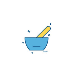 spoon bowl medicine soupe icon desige vector image