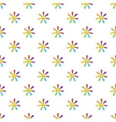 Sun in colours of LGBT pattern cartoon style vector
