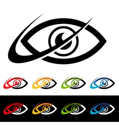 Swoosh Eye Logo Icons vector