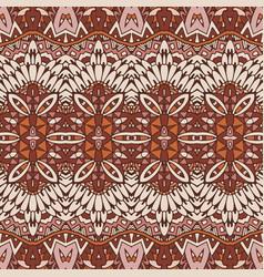 Technicolor tribe seamless pattern vector