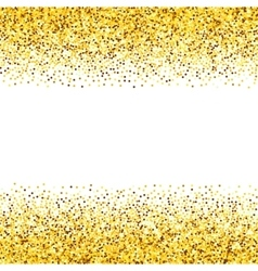 Texture gold glitter vector image vector image