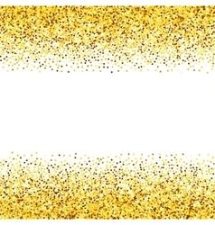Texture gold glitter vector image