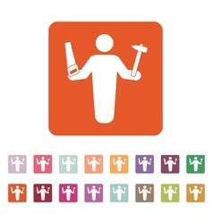 The carpenter avatar icon Builder and handyman vector image