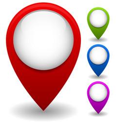 Thumbtack map pin location marker set vector