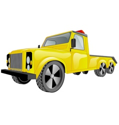 tow truck car vector image