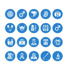 Urology flat glyph icons urologist vector