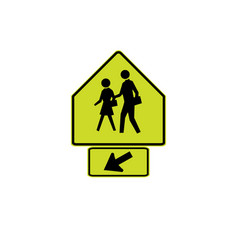 usa traffic road signs school crossing vector image