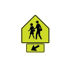 Usa traffic road signs school crossing vector