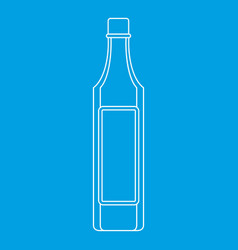 Vinegar bottle icon outline style vector